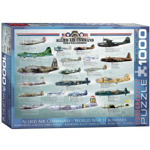 World War 2 Bombers (Allied Air Command) 1000 piece jigsaw puzzle   (pz)